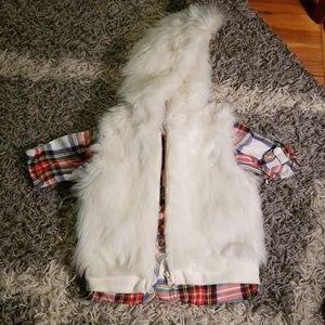 Toddler Cream Fur Vest